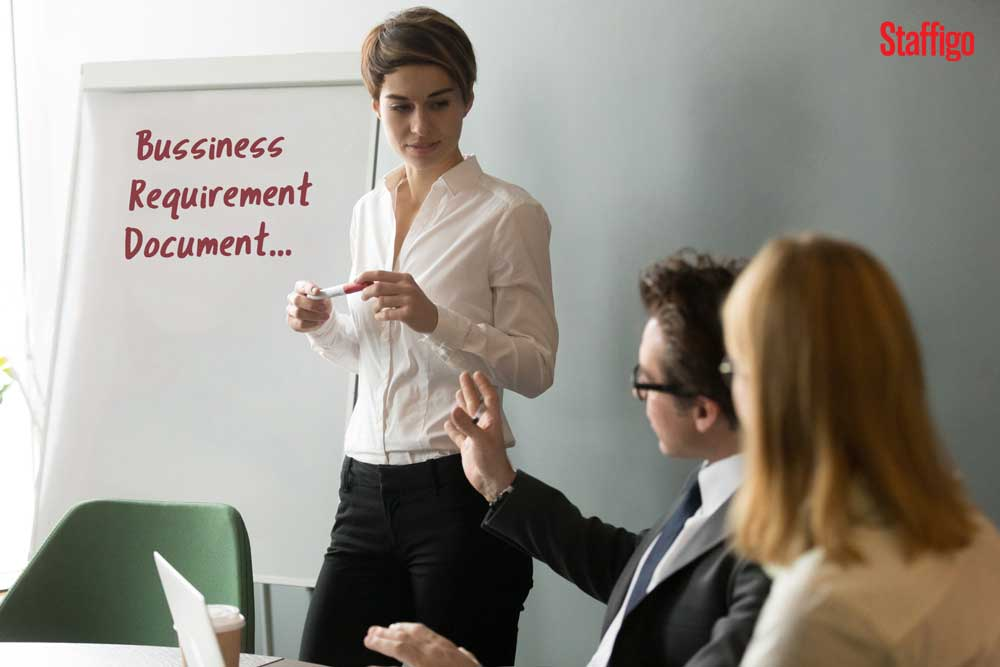 What is a Business Requirements Document (BRD) that a Business Analyst creates?
