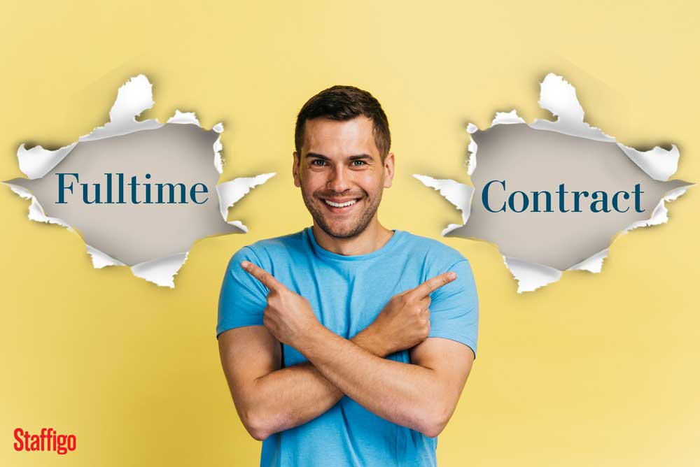 Work on the payroll for End Client (FULLTIME) vs Working on Payroll for an IT Consulting firm (CONTRACTOR)